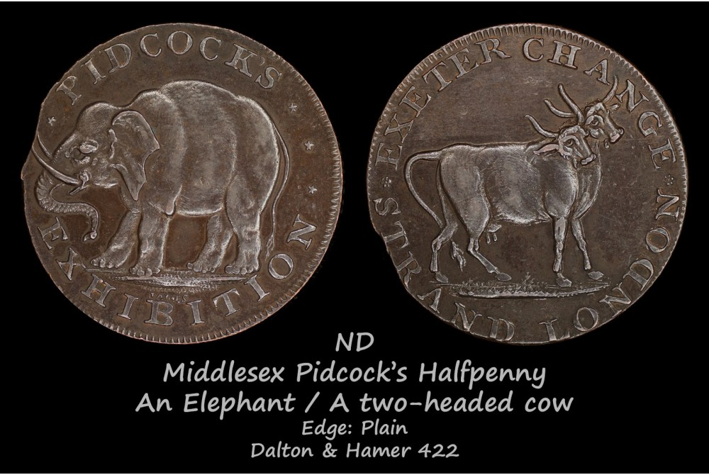 Middlesex Pidcock's Halfpenny D&H422