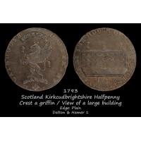 Scotland Kirkcudbrightshire Gatehouse Halfpenny D&H 1