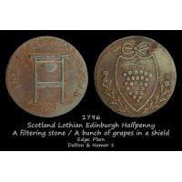 Scotland Lothian Edinburgh Halfpenny D&H1